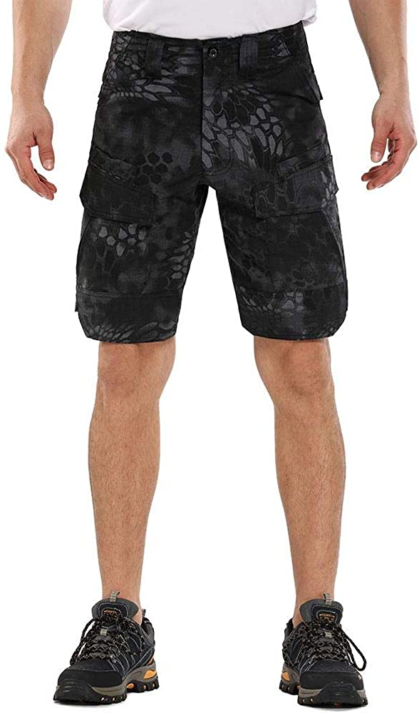 AKARMY Men's Urban Tactical Military EDC Cargo Shorts Rip-Stop Hiking Shorts Camo Army Military BDU Shorts with 8 Pockets