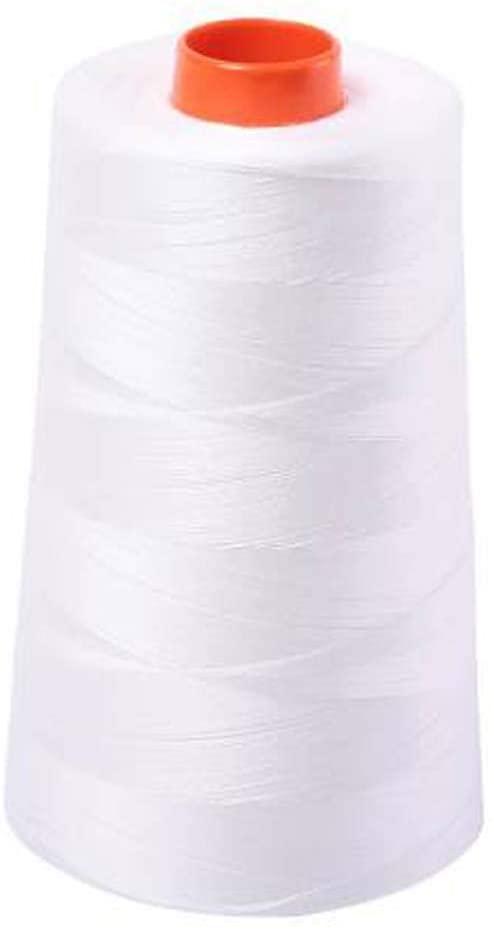 Aurifil 2021 50 Wt 100% Cotton Thread, 6,452 Yard Cone Natural White