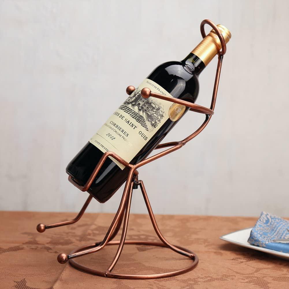 TY&WJ Metal Wine Bottle Holder Creative Household Decoration Wine Shelf Bar/Pub Decoration Wine Display Stands Gifts Wine Rack