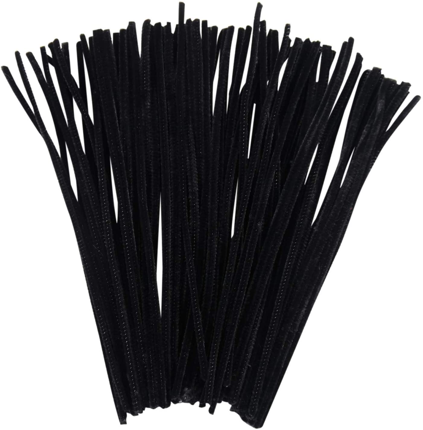 Creation Stations Luxury Pipe Cleaners, 300mm x 6mm, Black, us:one size, 100 Piece