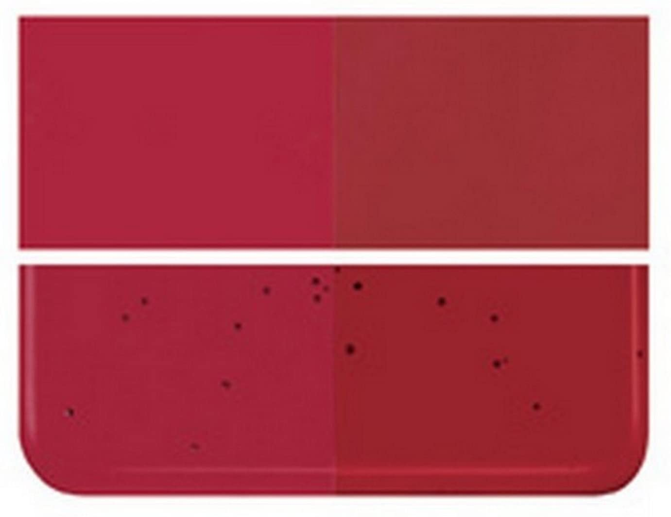 Fusible / Stained Glass 90coe Tested Compatible :: Bullseye Garnet RED Dbl-roll FUS :: (1 - 8 X 10 Piece) By Stallings Stained Glass