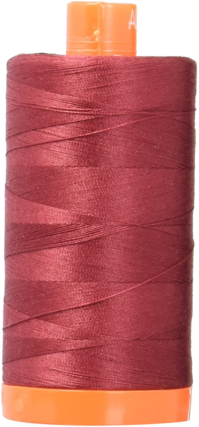 Aurifil Mako Cotton Thread Solid 50wt 1422yds Dark Carmine Red