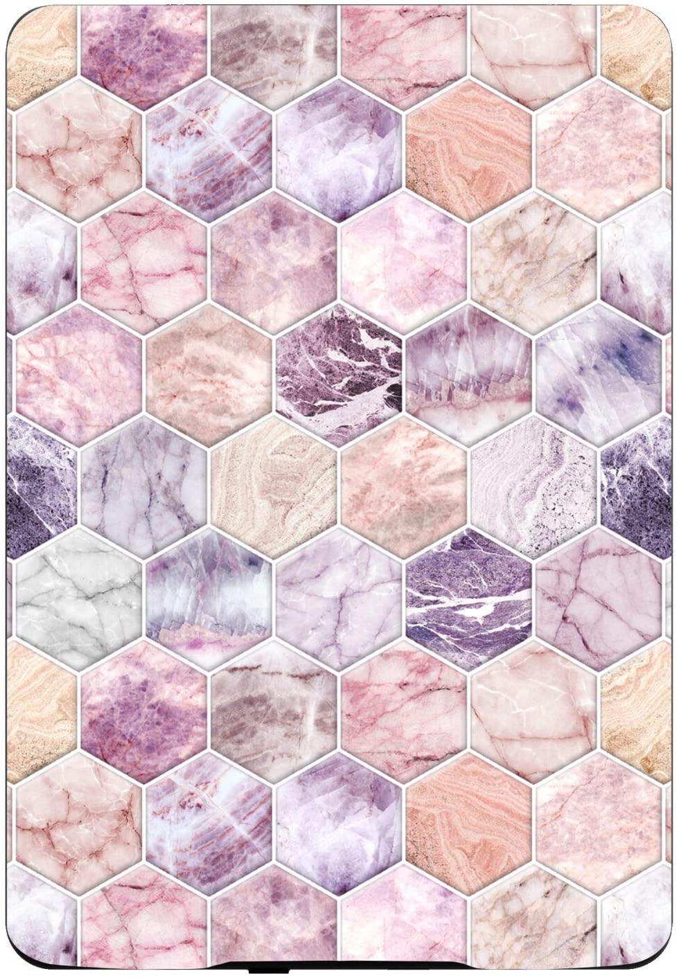 Head Case Designs Officially Licensed Micklyn Le Feuvre Rose Quartz and Amethyst Stone and Hexagon Tile Marble Patterns Glossy Vinyl Sticker Skin Decal Compatible with Kindle Paperwhite 1/2 / 3