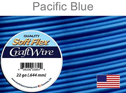 Craft Wire Soft Flex 22gauge Silver Plated Pacific Blue 10yards - 1 Spool (4724)/1