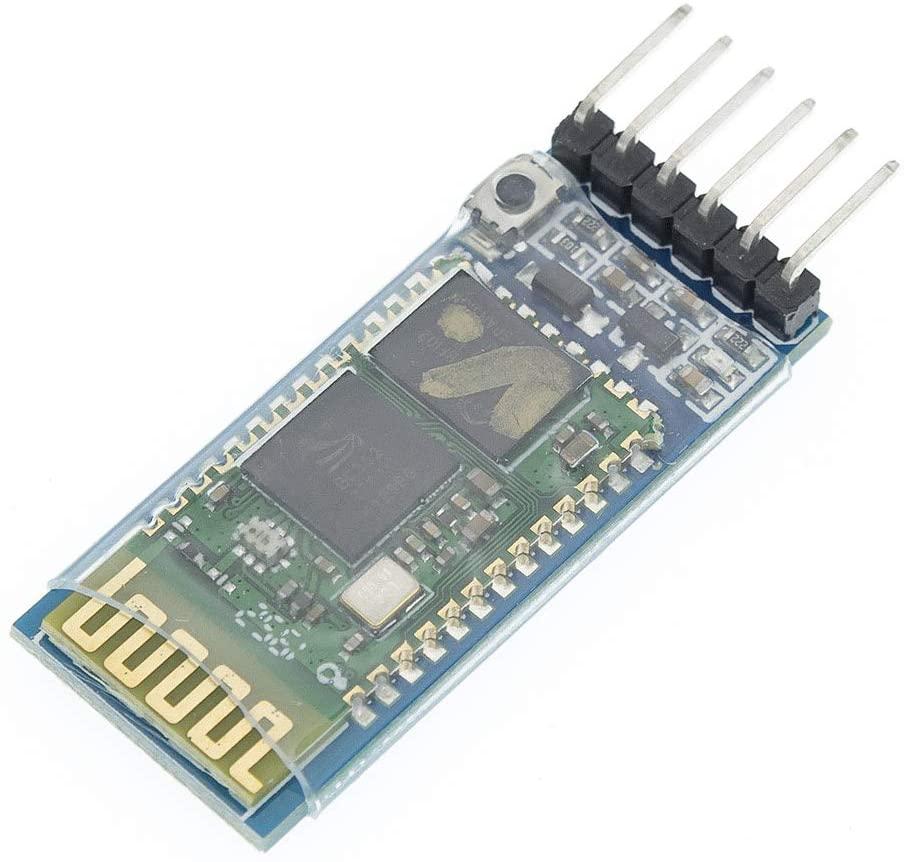 XM electronic HC05 HC-05 Master-Slave 6 pin Wireless Bluetooth RFTransceiver Module Anti-Reverse, Integrated Bluetooth Serial Pass-Through Module, Wireless Serial for Arduino