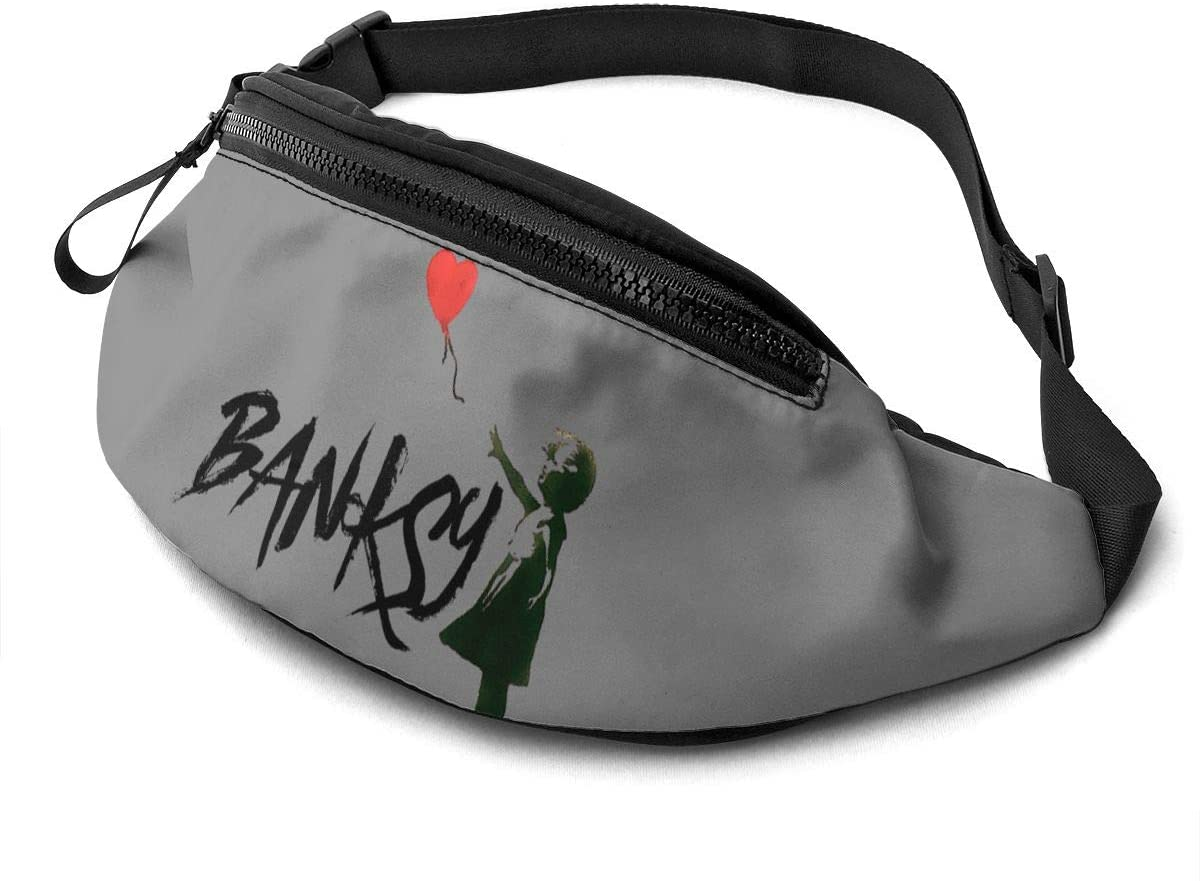 Qwertyi Banksy Unisex Running Waist Packs Casual Waist Bag, Can Hold Small Objects Such As Mobile Phones
