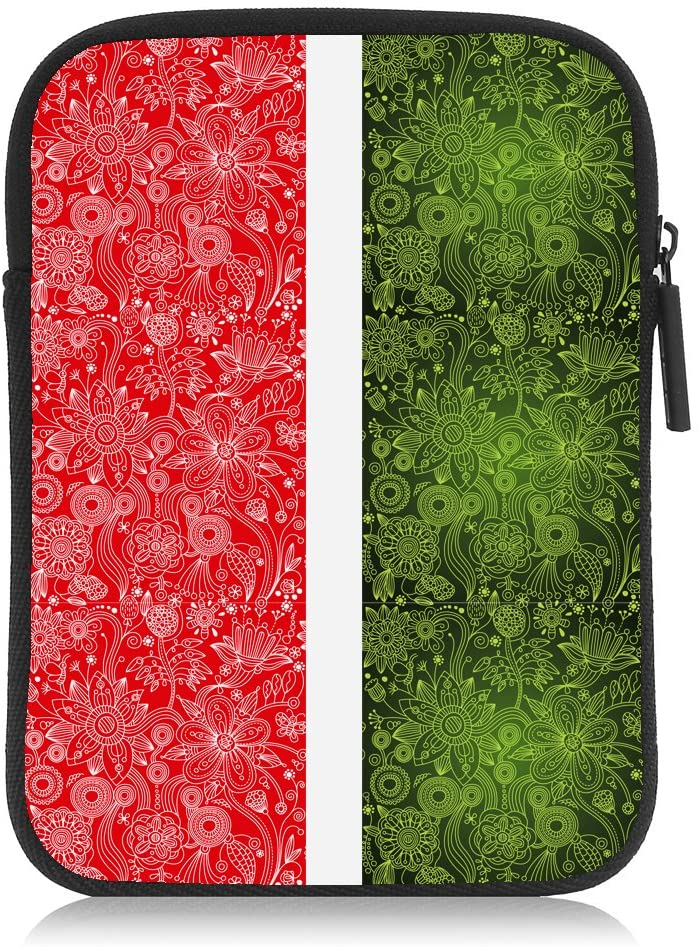 Italian Red Green White Floral Pattern Leaf DHgate 6
