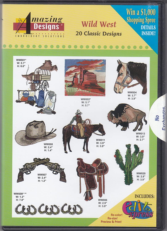 Wild West Machine Embroidery Designs