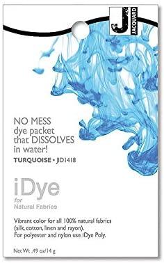 Jacquard iDye Natural Fiber Fabric Dye - Turquoise