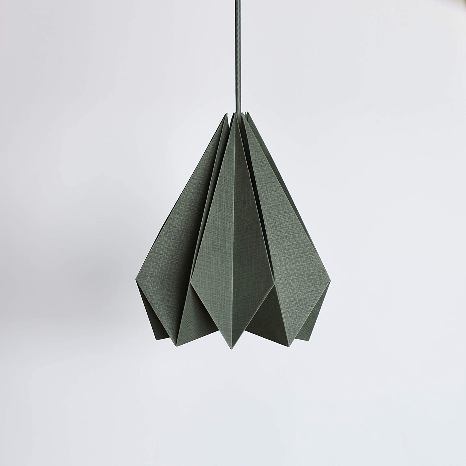 Brownfolds Grey Paper Origami Lamp Shade; Vanilla Bliss Single Pack