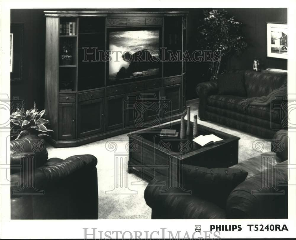 Vintage Photos 1993 Philips T5240RA Television Entertainment Center - hca55534