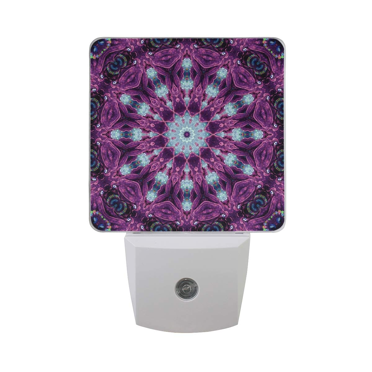 LED Night Light Psychedelic and Trippy Designs Made Auto Senor Dusk to Dawn Night Light Decorative Plug in for Kids Baby Girls Boys Adults Room Set of 2