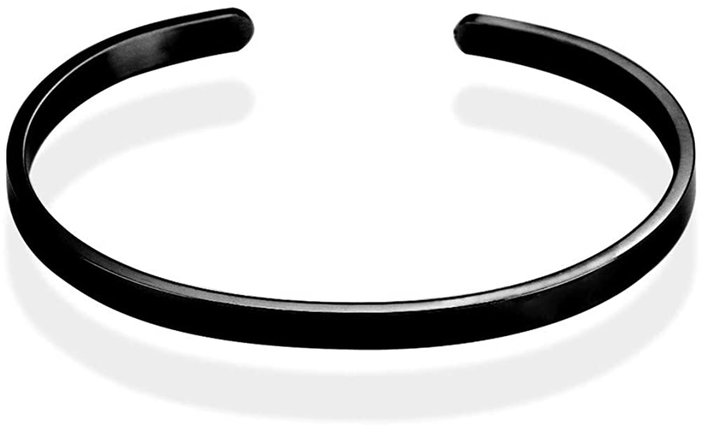Yvettewu Glossy Bracelet,Fashional Stainless-Steel Five Colors Cuff Bangle Bracelet Gift for Family
