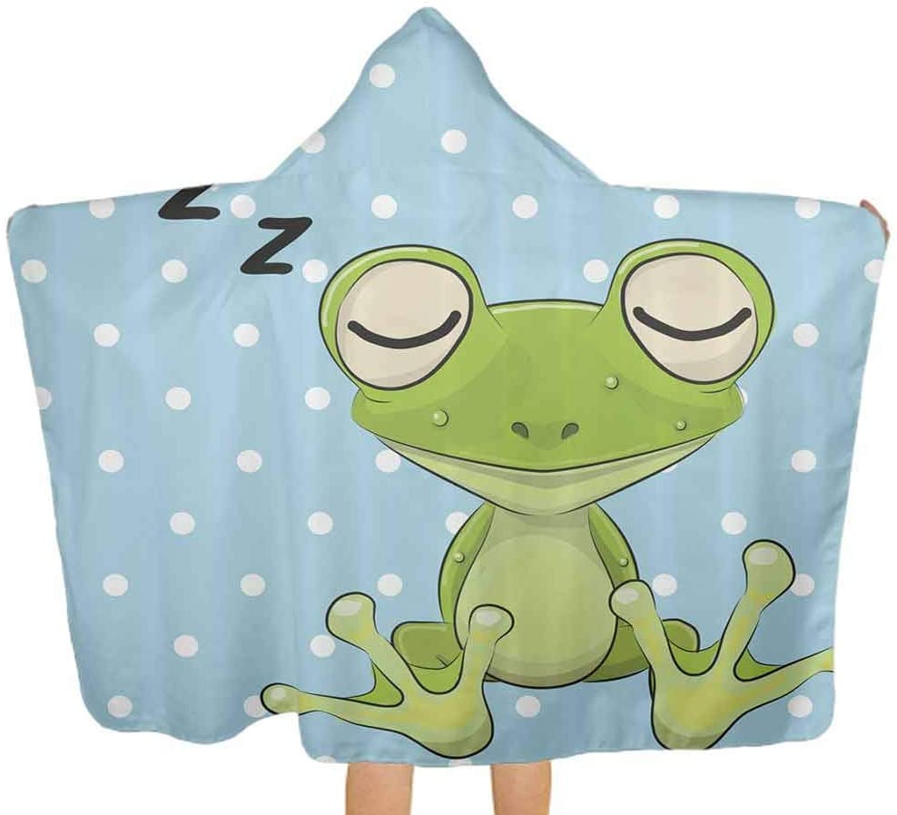 ThinkingPower Baby Bath Towels Frog Prince Polka Dots Toddler Premium Absorbent Bathrobe Unusually Soft and Warm, 51.5x31.8 Inch