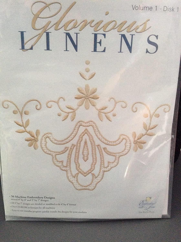 Martha Pullen Glorious Linens Volume 1 Disc 1 Machine Embroidey Designs
