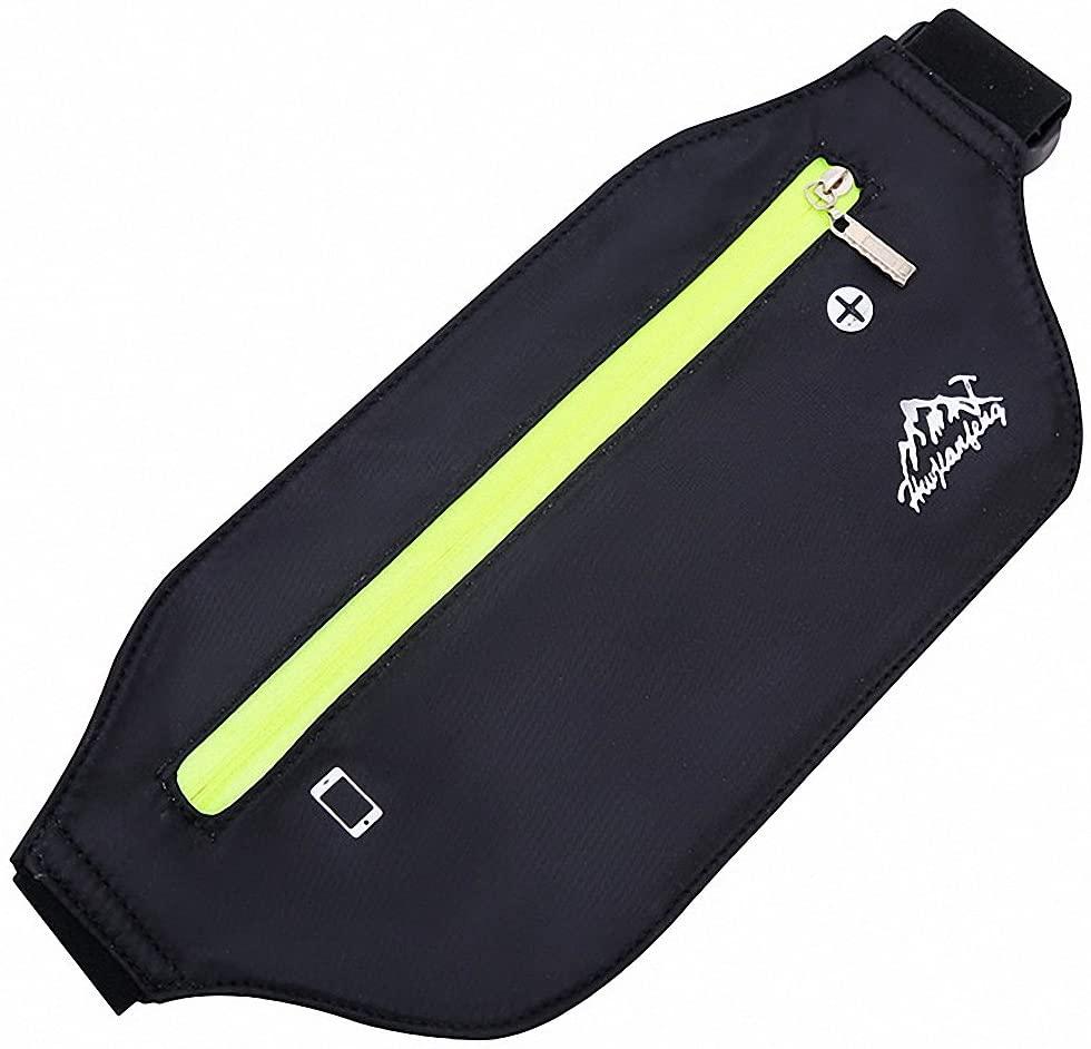 Fanny Pack - Slime Waist Bags For Women - Small Mens Bum Belt Bag Zipper Pockets - Thin Flat Cheap Hip Running Phanny Packs