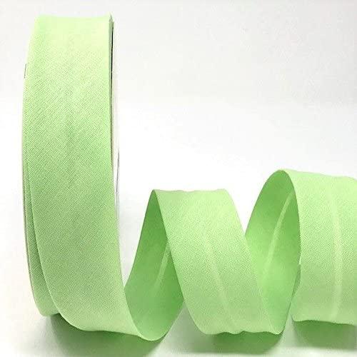 Byetsa Lettuce Green 30mm Polycotton Bias Tape on a 25m Roll