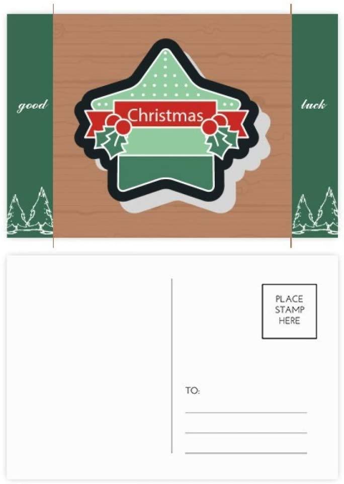 Christmas Star Christmas Cartoon Icon Good Luck Postcard Set Card Mailing Side 20pcs