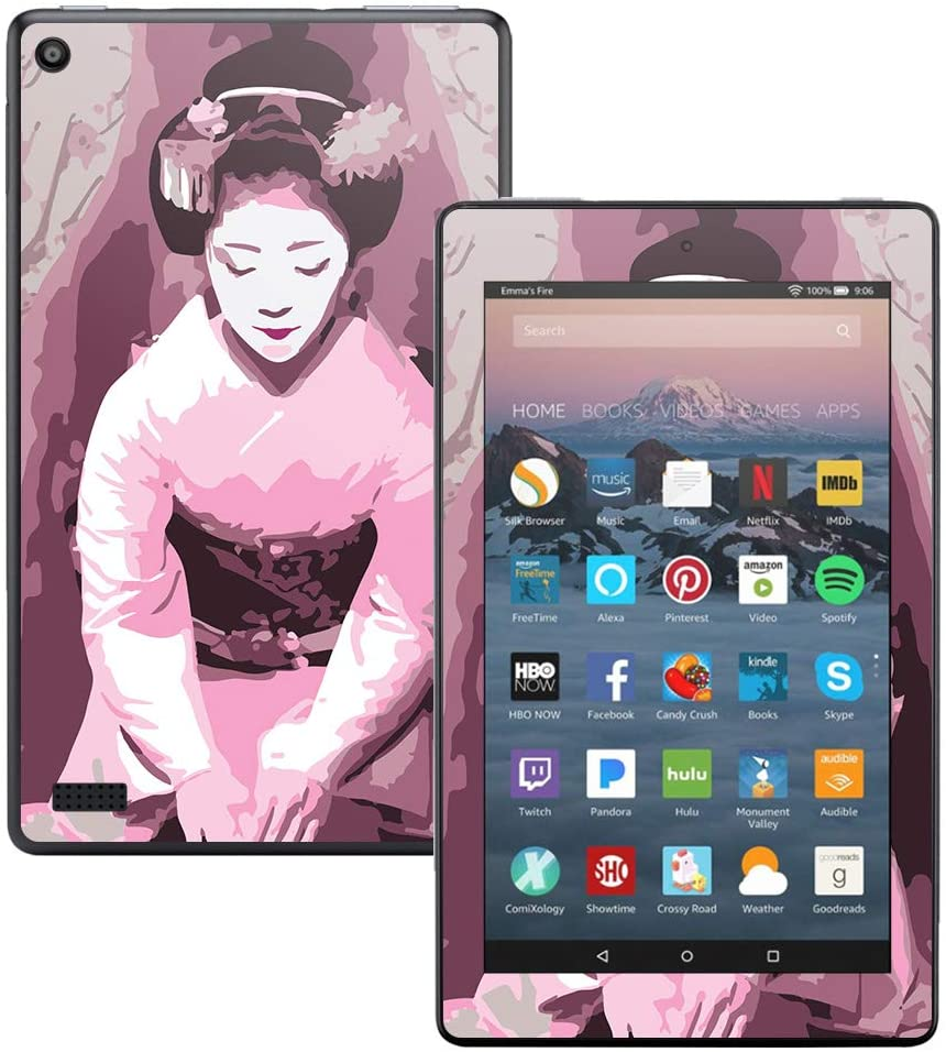 MightySkins Skin Compatible with DHgate Kindle Fire 7 (2017) - Geisha | Protective, Durable, and Unique Vinyl Decal wrap Cover | Easy to Apply, Remove, and Change Styles | Made in The USA
