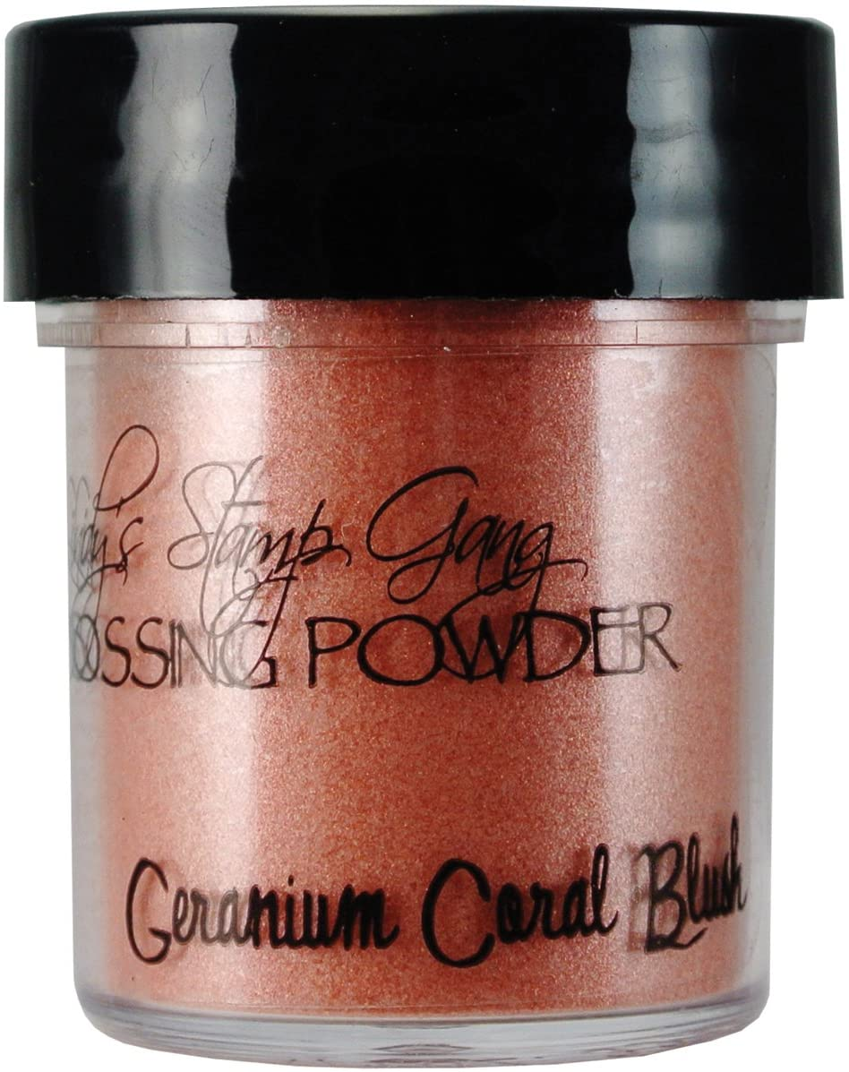 Lindy's Stamp Gang 2-Tone Embossing Powder, 0.5-Ounce, Geranium Coral Blush