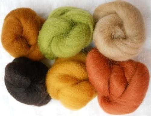 Wool Roving Earth Tones