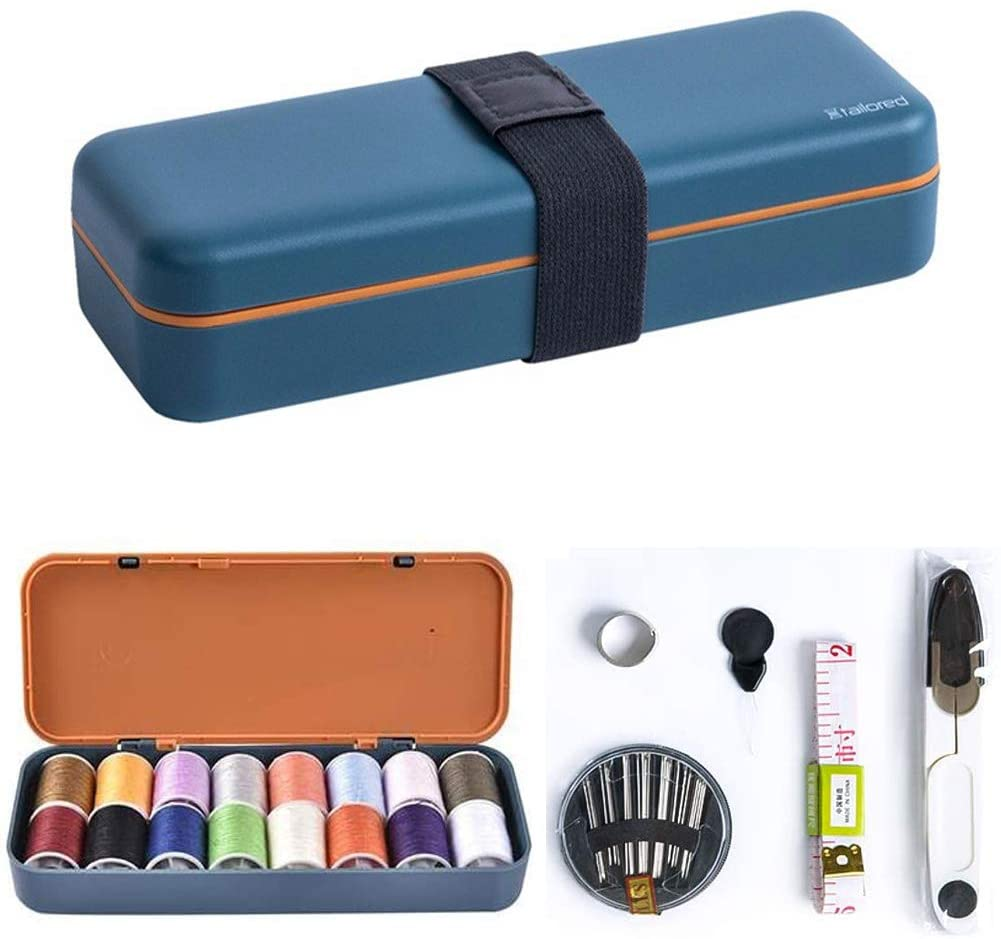 Portable Sewing Threads Kit, Quick Fixes Household Sewing Multifunctional Set Hand Sewing Needle Box for Beginners, Campers, DIY, Home, Traveller, Emergency Clothing Fixes Sewing Supplies