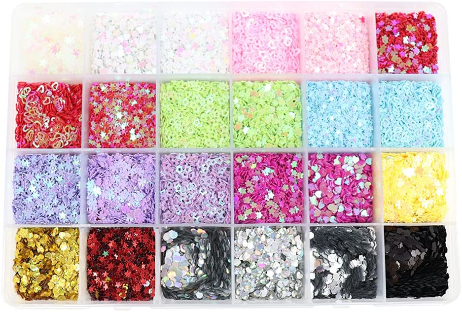 1box/lot 3-4mm Mixed 24 Colors Flake Rainbow Cup Sequin for Home Wedding Decoration Confetti (type4)