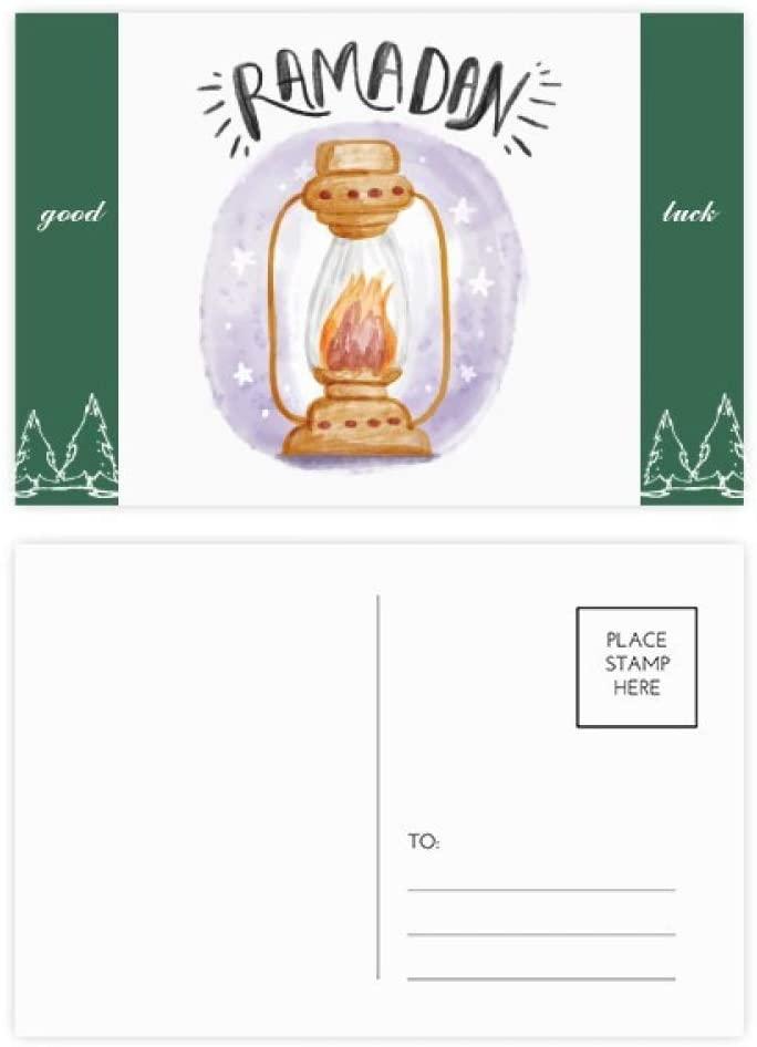 Colorful Barn Lantern Cartoon Pattern Good Luck Postcard Set Card Mailing Side 20pcs