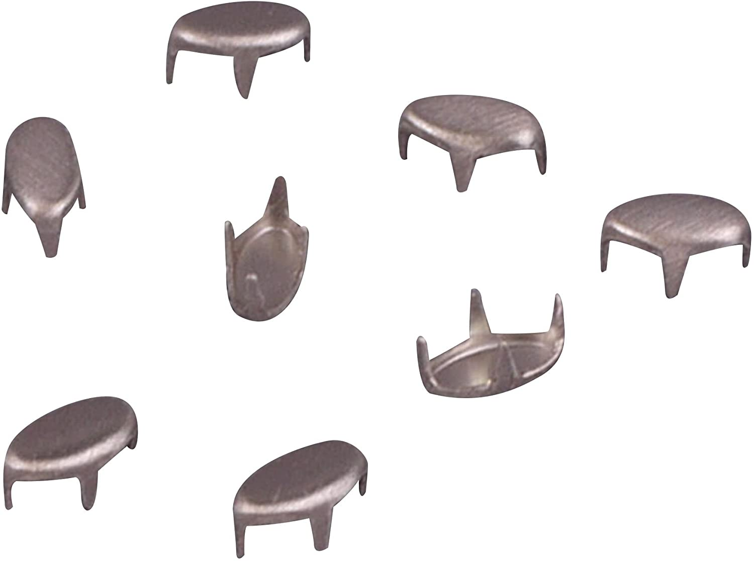 Porcelynne Vintage Silver Metal Oval Studs/Nailheads - 6mm - 250 Pieces