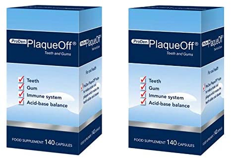 PlaqueOff Teeth Whitening Capsules | Helps to Reduce Tartar & Plaques | Boost Dental Hygiene, Does NOT harm The Enamel Works from Within Your Body, Patented, 2 x 140 caps