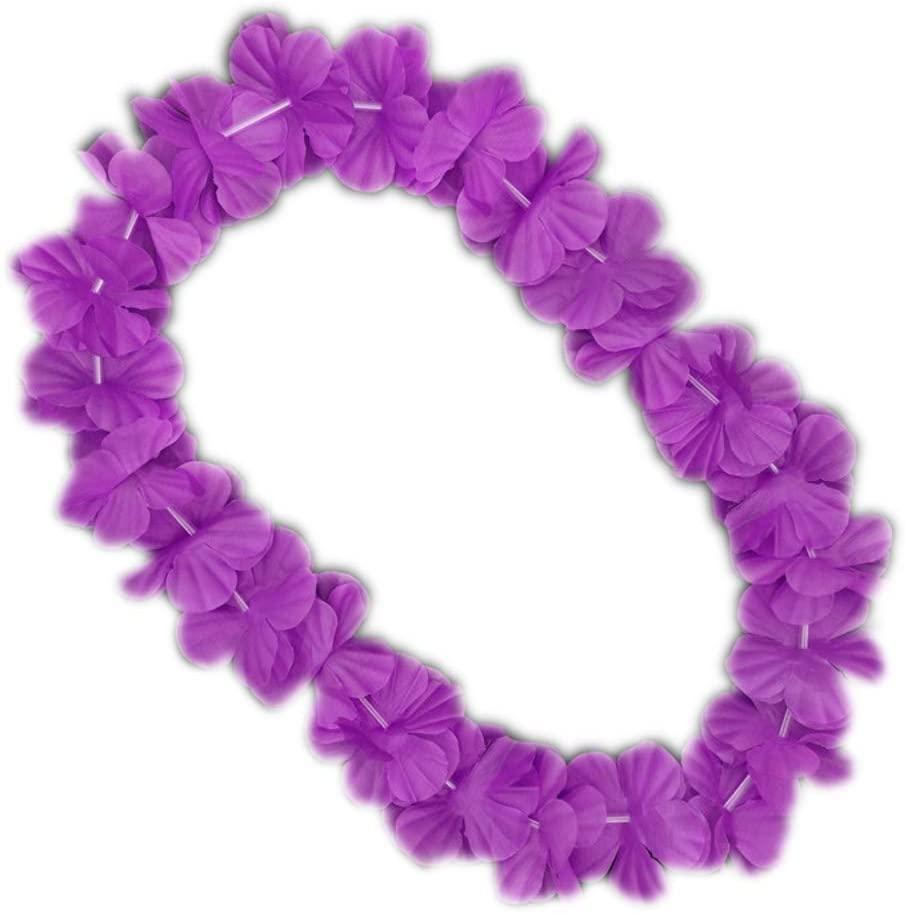 blinkee Hawaiian Flower Lei Necklace Purple by