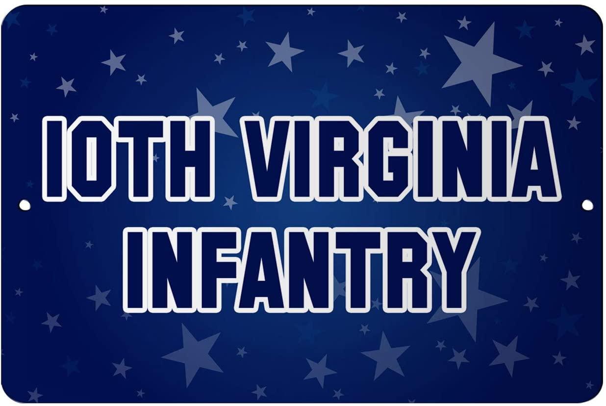 Makoroni - 10TH Virginia Infantry USA Design 12x18 inc Aluminum Decorative Wall Street Sign