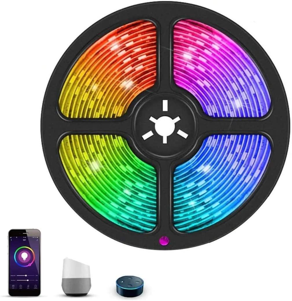 Led Strip Lights RGB Alexa WiFi 10m(2x5m) 300 Led Remote Control App Waterproof Voice Control (RGB LED(1X5M))