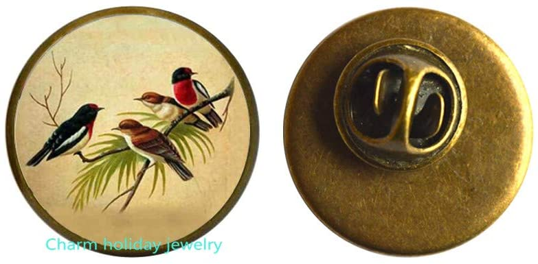 Bird Animal Natural Crystal Pin Charm Brooch,Daughter and Mother's Gift Brooch,Bird Brooch,Animal Brooch,Dainty Bird Brooch-#232