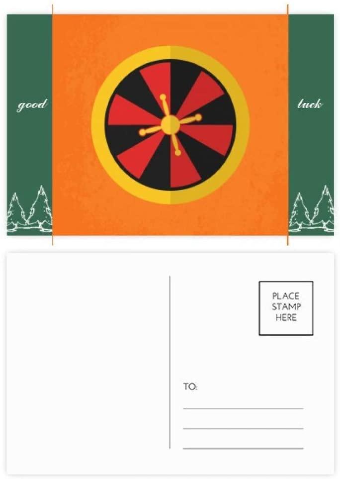 Casino Turntable Element Illustration Good Luck Postcard Set Card Mailing Side 20pcs