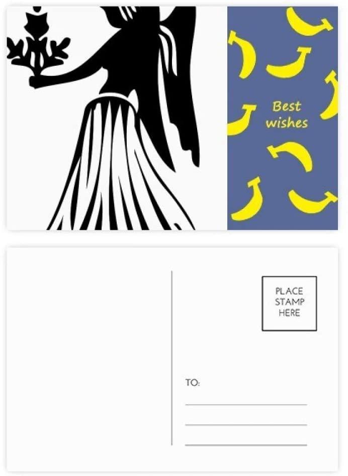 Constellation Virgo Zodiac Sign Banana Postcard Set Thanks Card Mailing Side 20pcs