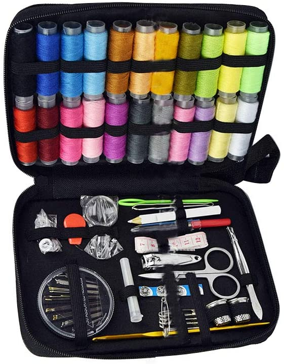 126pcs DIY Sewing Kit Needles Pins Scissors Thread Clips Tape Measure Mending Set Embroidering Quilting Tools