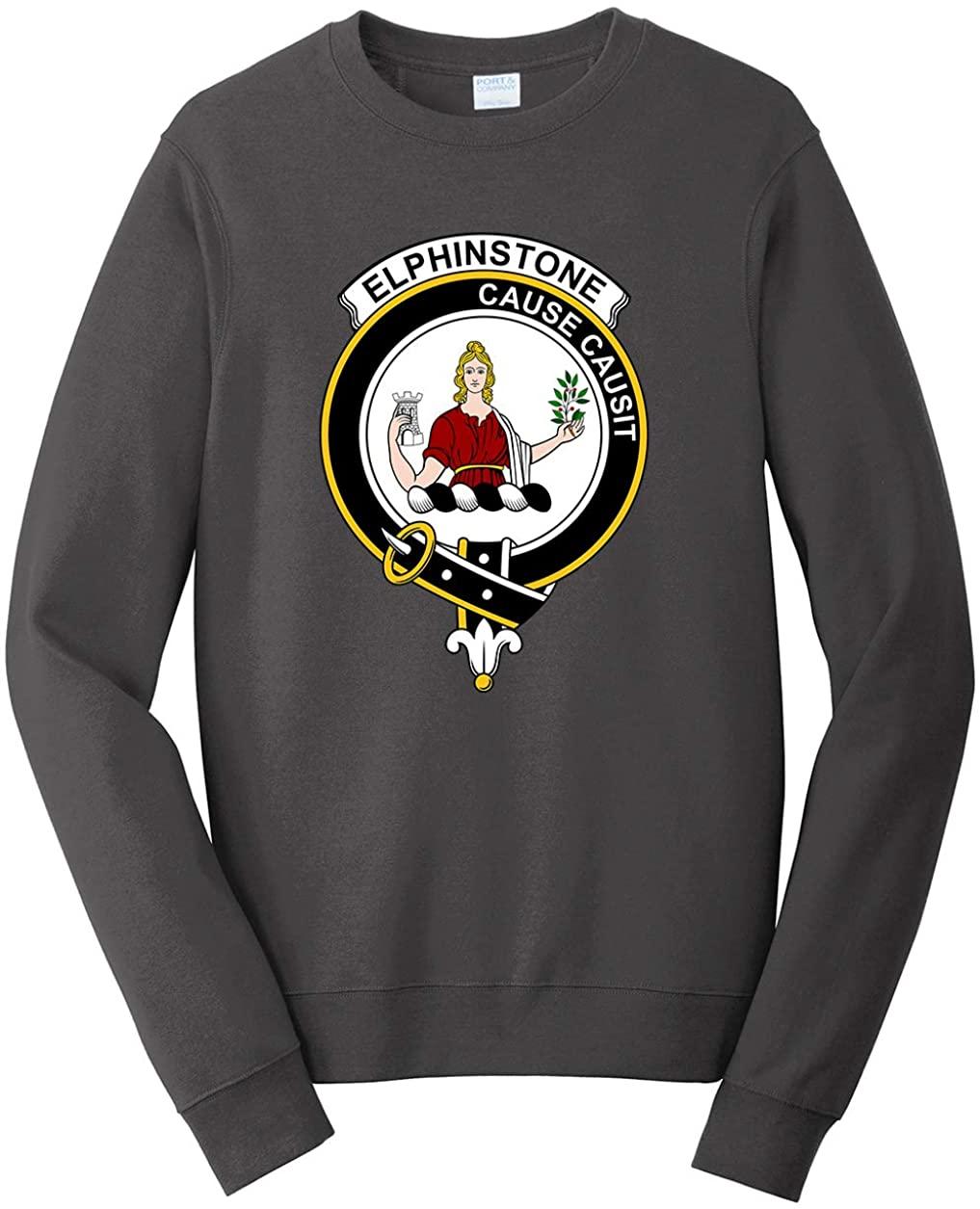 Tenacitee Men's Scottish Clan Crest Badge Elphinstone Sweatshirt