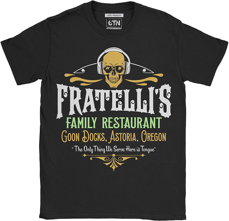 6TN Mens Fratelli's Family Restaurant Goon Docks Astoria T Shirt