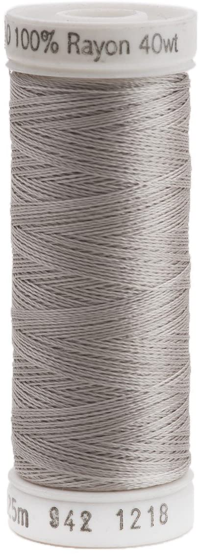 Sulky Rayon Thread for Sewing, 250-Yard, Silver Gray