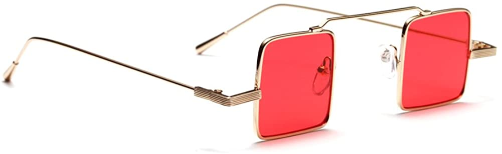 Small Square Sunglasses Men Vintage Metal Frame Retro Sun Glasses for Women