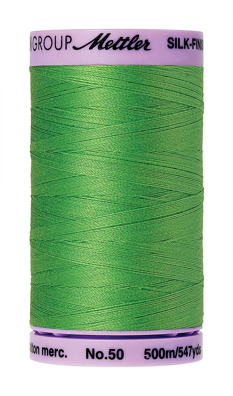 Mettler Silk-Finish Solid Cotton Thread, 547 yd/500m, Light Kelly