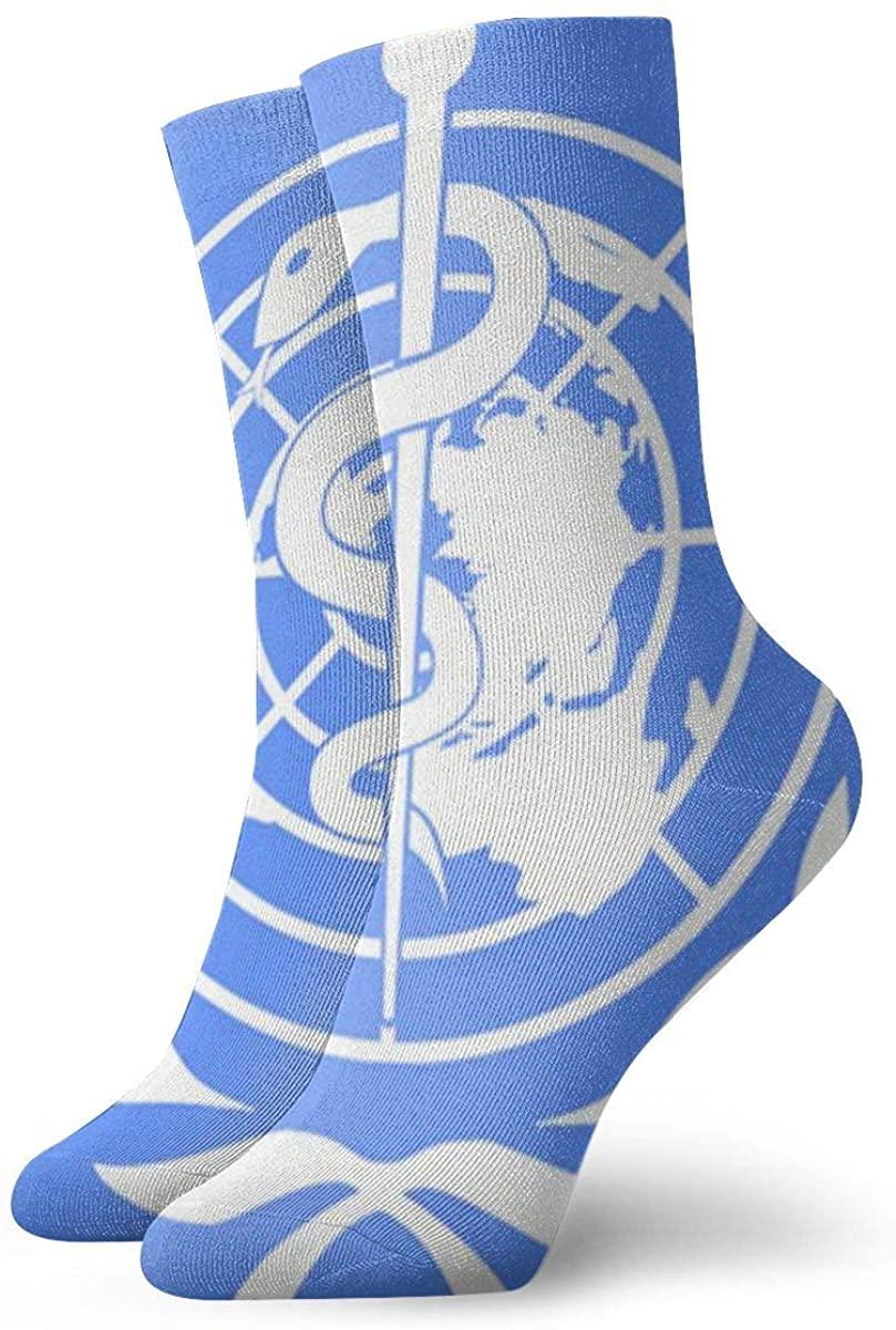 Unisex Star Of Life Snake Emblem Athletic Stockings Crew Socks Sports Outdoor For Men Women