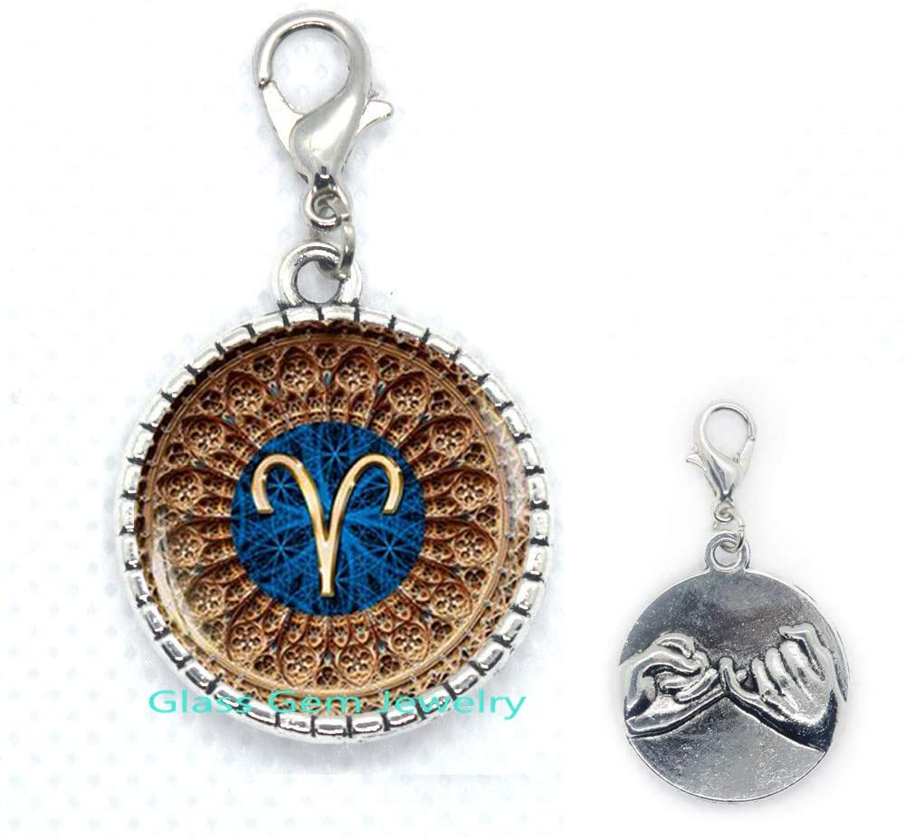Aries Zodiac Zipper Pull, Aries Lobster Clasp, Aries Zodiac Jewelry, Aries Constellation Zipper Pull, Aries Zodiac Sign,Q0101