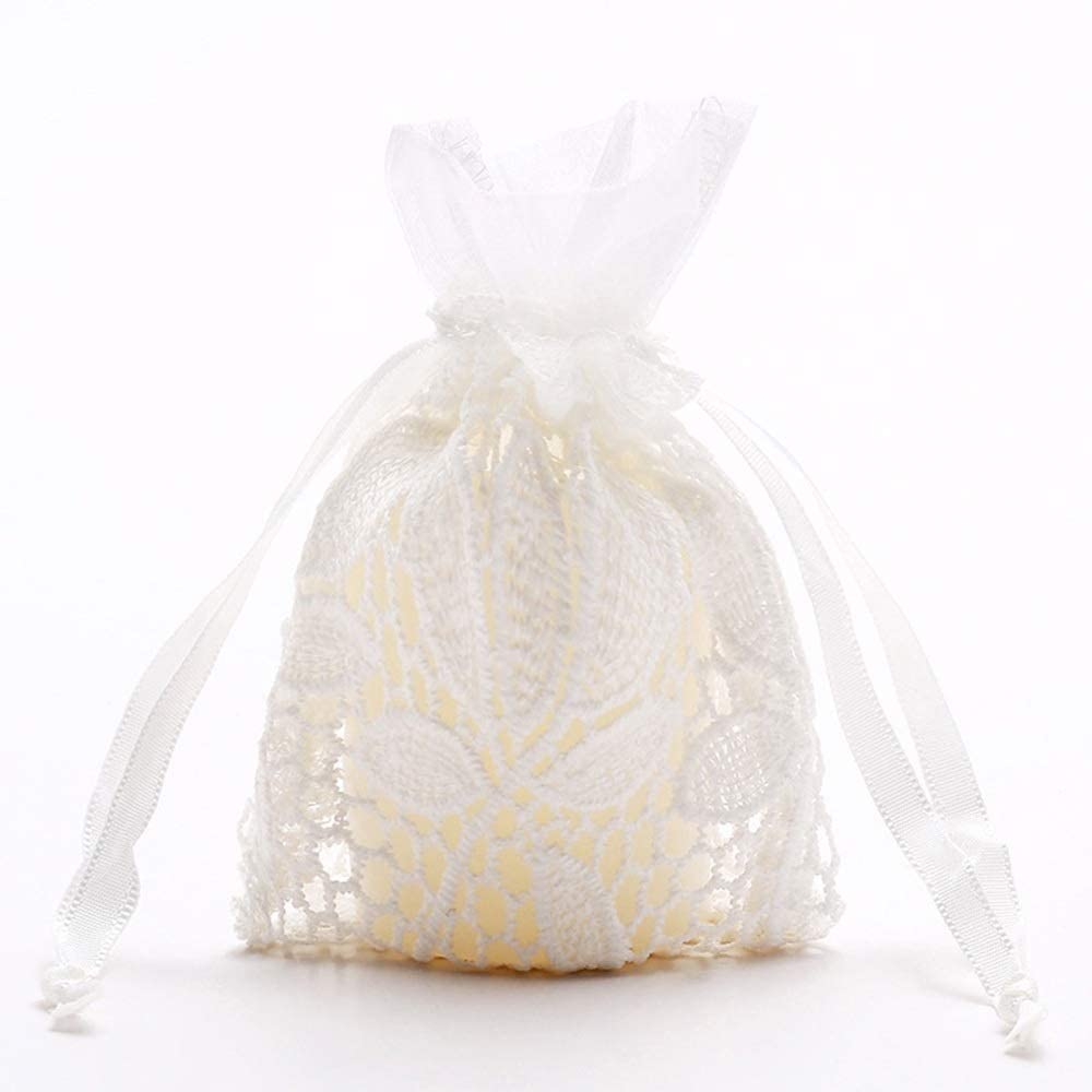 Xinneng Sophisticated Production Equipment Gift Bags - 5 Leaves White Cotton Bags, Jewelry Gift Drawstring Pouch, Upscale Creative Beam Port, Christmas Candy Bags Delicate