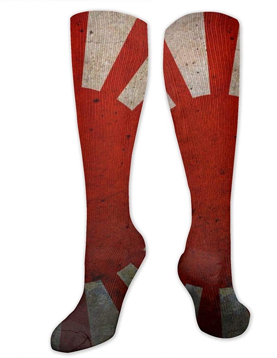 Men Women Knee High Socks Rising Sun Flag Imperial Japanese Boot Long Hose Yoga