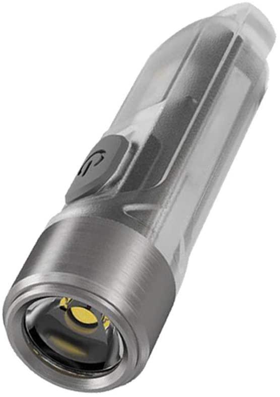 Mini Keychain Light USB Charging CRI White UV LED Flashlight Max 300 Lumens Flashlight with Built-in Battery