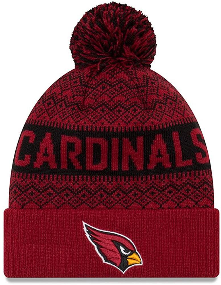 New Era Arizona Cardinals Wintry Pom 2 Pom Knit Beanie Hat/Cap