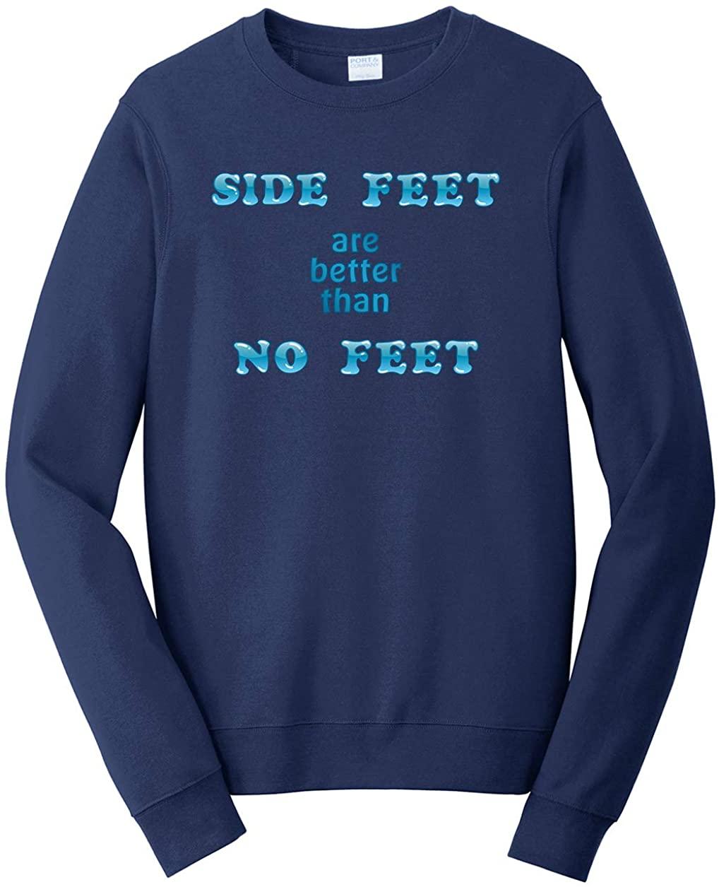Tenacitee Men's Side Feet are Better Than No Feet Sweatshirt