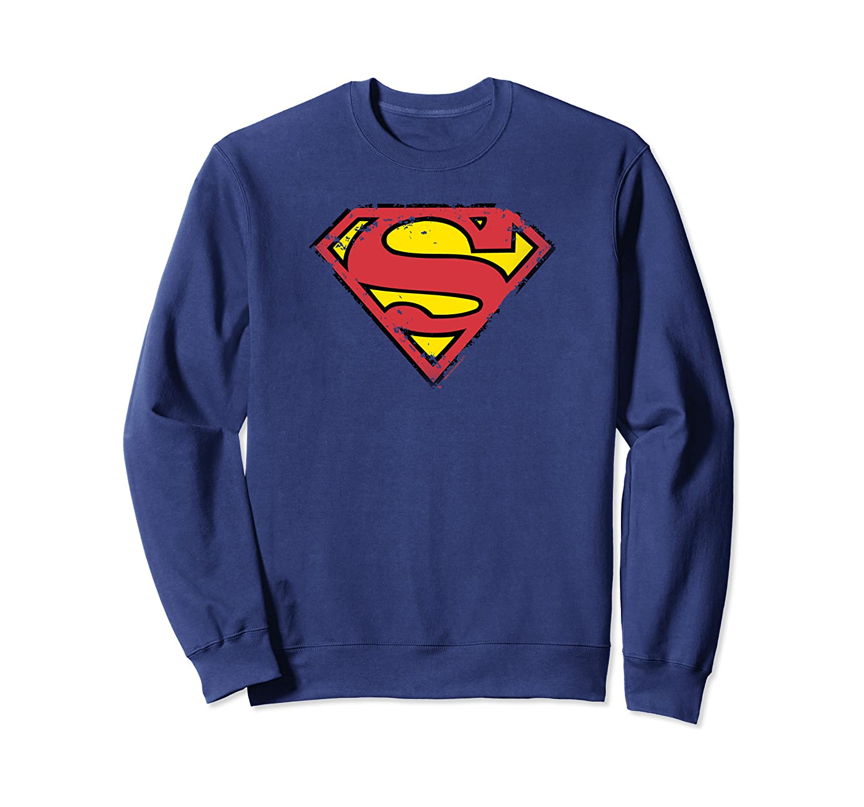 Superman Distressed Shield Sweatshirt